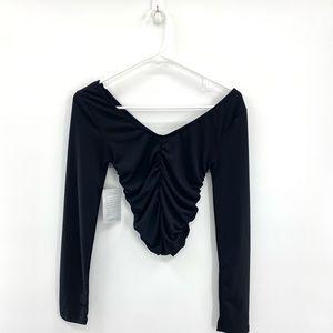 Velvet Torch Long Sleeve Crop Top Women's Size M